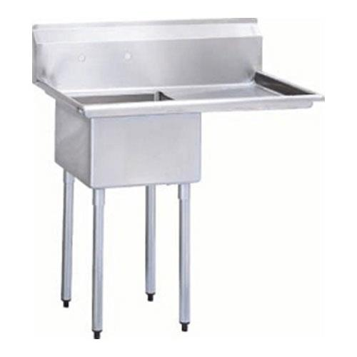 40 in One Compartment Prep Sink w/ Right Drainboard -  Turbo Air, TSA-1-12-R1