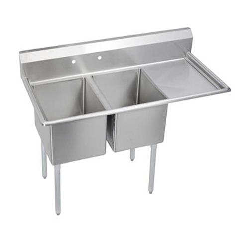 ... Standard 76 1/2 in Two Compartment Sink With Right 24 in Drainboard