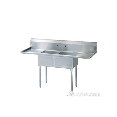 "84 1/2"" Two Compartment Sink w/ 24"" Drainboards at Discount Sku TSA-2-14-D2 TURTSA214D2"