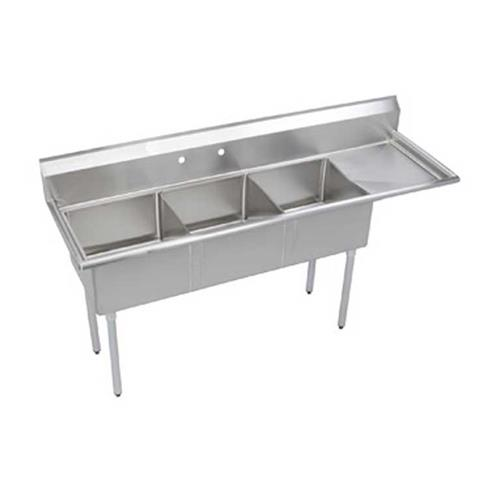 Elkay S3c18x18 R 18x 74 1 2 In 3 Compartment Sink Etundra