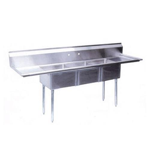 compartment sink used turbo air three drainboards 2 cad block