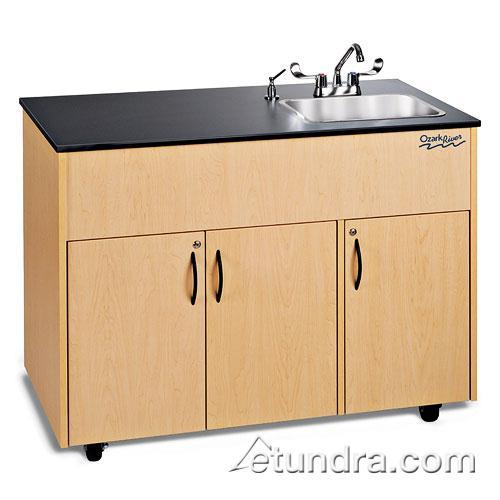Advantage Series Single Deep Stainless/Laminate/Maple Portable Hand Sink at Discount Sku ADAVM-LM-SS1DN OZRADAVMLMSS1DN
