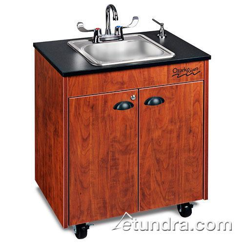 Lil Premier Series Single Stainless/Laminate/Cherry Portable Hand Sink at Discount Sku CHSTC-LM-SS1N OZRCHSTCLMSS1N