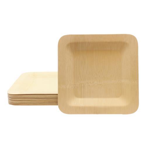 TABBAMDSP9 - Tablecraft - BAMDSP9 - 9 in Disposable Square Bamboo Plate  sc 1 st  Tundra Restaurant Supply & Tablecraft - BAMDSP9 - 9 in Disposable Square Bamboo Plate | eTundra