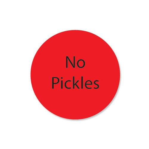 DuraMark 1 in Round No Pickles Label at Discount Sku 111236 DAY111236