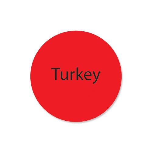 DuraMark 1 in Round Turkey Label at Discount Sku 111253 DAY111253