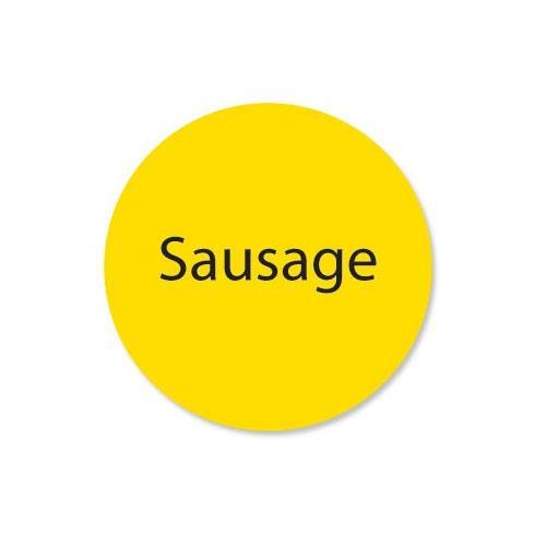 DuraMark 1 in Round Sausage Deli Label at Discount Sku 111261 DAY111261