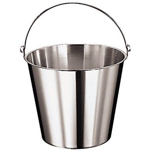 "10 5/8"" Deep Stainless Kitchen Pail"