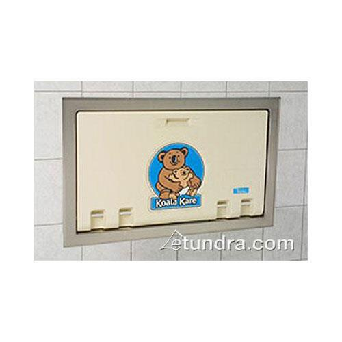 S/S Flange Horizontal Mount Baby Changing Station Cream at Discount Sku KB100-00ST KOAKB10000ST