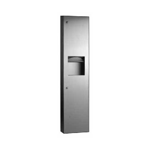 TrimlineSeries Surface-Mount Paper Towel Dispenser & 6.3 Gallon Waste Receptacle at Discount Sku B-380349 BOBB380349