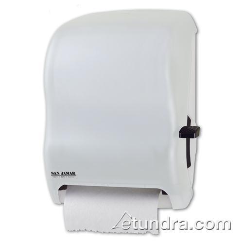 T Shirt Rag Dispenser ~ San jamar t wh classic white lever roll towel dispenser