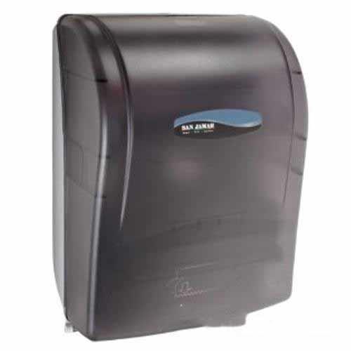 T Shirt Rag Dispenser ~ San jamar t tbk simplicity black towel dispenser