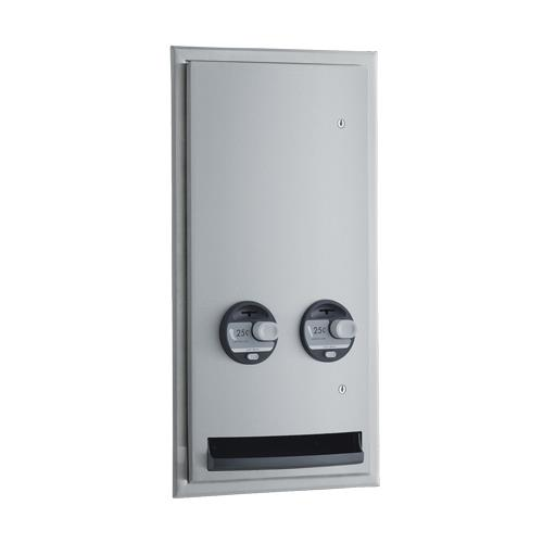 ConturaSeries Semi-Recessed 25 Cent Napkin/Tampon Dispenser at Discount Sku B-47064 25 BOBB4706425
