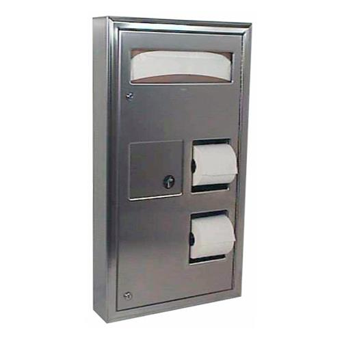 ClassicSeries Surface-Mount Seat Cover, Napkin Disposal & Toilet Tissue Dispenser at Discount Sku B-3579 BOBB3579