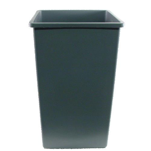 continental commercial 25gy 25 gal square swingline trash can