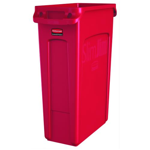 Rubbermaid 1956189 23 Gal Red Slim Jim 174 Trash