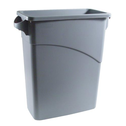 Rubbermaid 3541 slim jim grey 15 7 8 gallon rectangular etundra - Rectangular garbage cans ...