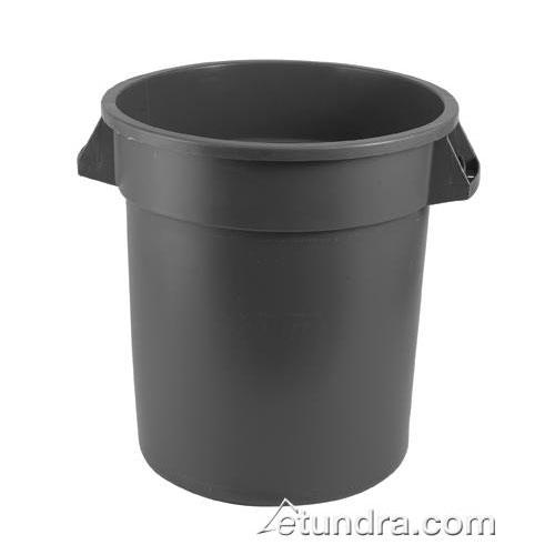 rubbermaid fg265500gray grey 55 gallon round trash can etundra. Black Bedroom Furniture Sets. Home Design Ideas
