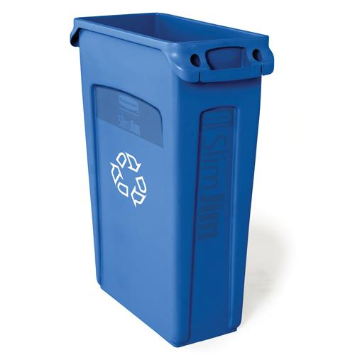 RUBBERMAID - FG354007BLUE - 23 GAL SLIM JIM® RECYCLING CONTAINER