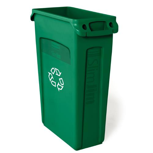 RUBBERMAID - FG354007GRN - 23 GAL GREEN SLIM JIM® RECYCLE OR COMPOST CONTAINER