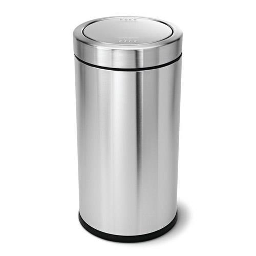 simplehuman cw1442 55 liter stainless steel trash can etundra. Black Bedroom Furniture Sets. Home Design Ideas