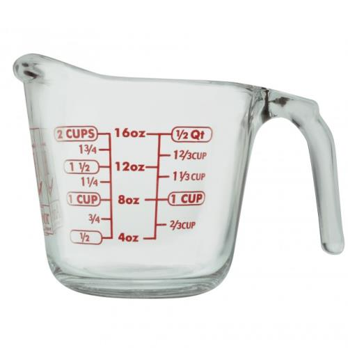 16 oz Glass Measuring Cup -  Anchor Hocking, 55177AHG17
