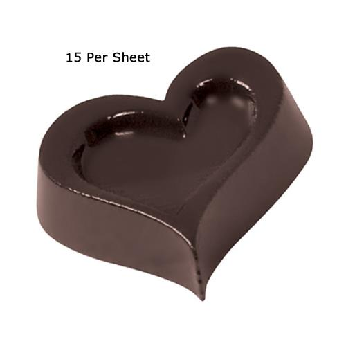World Cuisine - 47860-24 - (15) Polycarb Heart Chocolate Mold