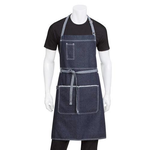 Chef Works Ab041 Ibl Indigo Blue Bronx Bib Apron Ebay