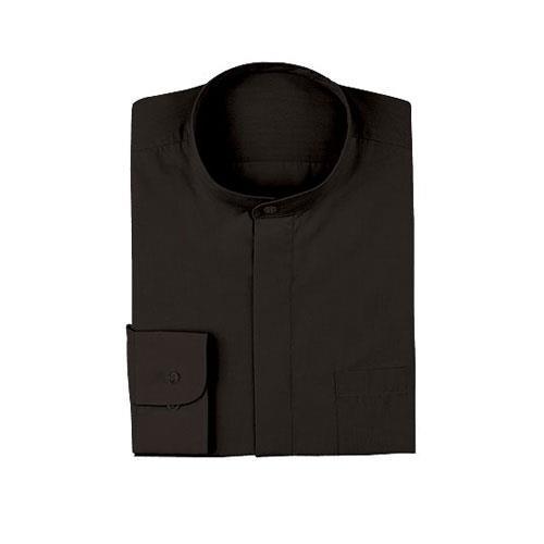 Black Banded-Collar Shirt (XL)