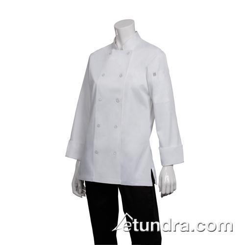 Women's Marbella White Chef Coat (L) at Discount Sku CWLJ-WHT-L 81922