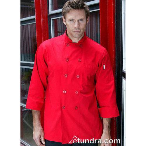 Nantes Red Chef Coat (4XL) at Discount Sku REPC-RED-4XL CFWREPCRED4XL