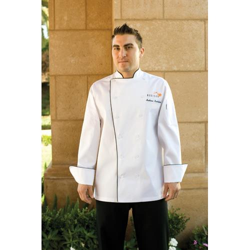 Sicily Chef Coat (2XL) at Discount Sku TRCC-2XL CFWTRCC2XL