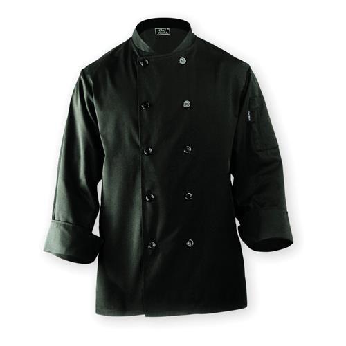 Chef Works BAST-BLK-XL Bastille Black Chef's Coat (XL) for Restaurant Chef