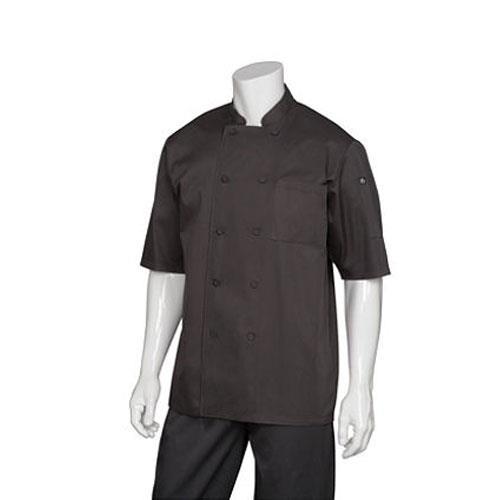 Chef Works JLCV-BLK-L Montreal Black Chef Coat (L) for Restaurant Chef