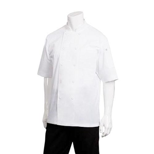 Chef Works JLCV-WHT-M Montreal White Chef Coat (M) for Restaurant Chef