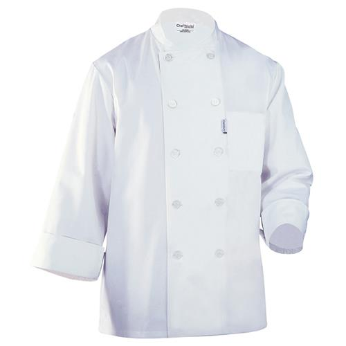 Chef Works WCCW-WHT-M LeMans Chef Coat (M) for Restaurant Chef