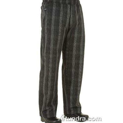 Black Plaid Chef Pants (S) at Discount Sku BPLD-BLK-S CFWBPLDBLKS