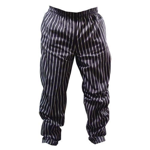 Chalk Stripe Designer Chef Pants (XL) at Discount 81583