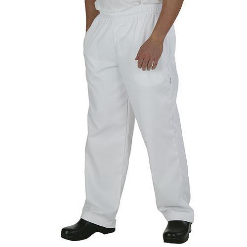 White Baggy Chef Pants (2XL) at Discount Sku WTBP-2XL CFWWTBP2XL