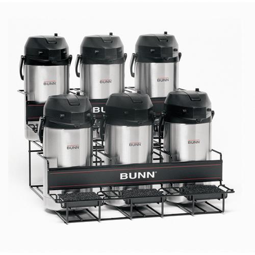 Bunn - UNIV-6-0002 - 6 Pot Tiered Universal Airpot Rack ...