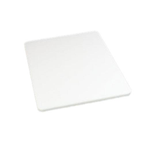 Carlisle 1088702 18 in x 24 in x 1/2 in White Cutting Board for Restaurant Chef