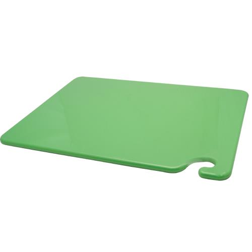 San Jamar CB152012GN 15 in x 20 in x 1/2 in Green Cutting Board for Restaurant Chef