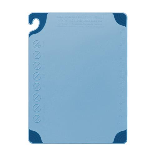 San Jamar CBG182412BL 18 in x 24 in x 1/2 in Blue Cutting Board for Restaurant Chef