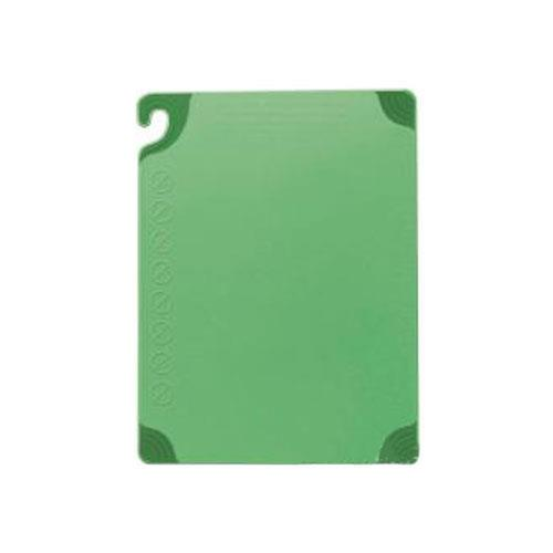 San Jamar CBG182412GN 18 in x 24 in x 1/2 in Green Cutting Board for Restaurant Chef