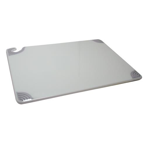 San Jamar CBG182412WH 18 in x 24 in x 1/2 in White Cutting Board for Restaurant Chef