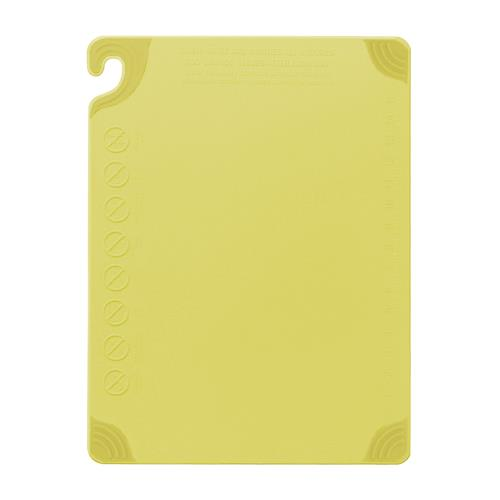 San Jamar CBG182412YL 18 in x 24 in x 1/2 in Yellow Cutting Board for Restaurant Chef