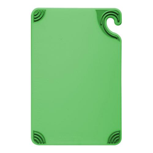 San Jamar CBG912GN 9 in x 12 in x 3/8 in Green Cutting Board for Restaurant Chef