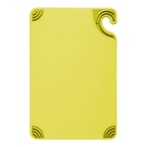 San Jamar CBG912YL 9 in x 12 in x 3/8 in Yellow Cutting Board for Restaurant Chef