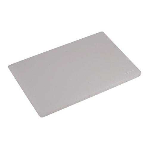 Update CB-1218H 12 in x 18 in x 3/4 in White Cutting Board for Restaurant Chef