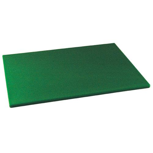Winco CBGR-1218 12 in x 18 in x 1/2 in Green Cutting Board for Restaurant Chef